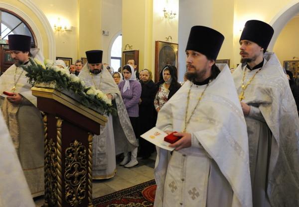 Клирик Преображенского женского монастыря протоиерей Андрей Лебедев награжден Юбилейной медалью Русской Православной Церкви